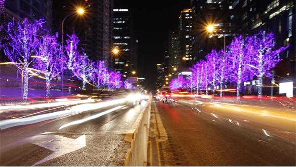 夜景照明工程中内透光的使用手法