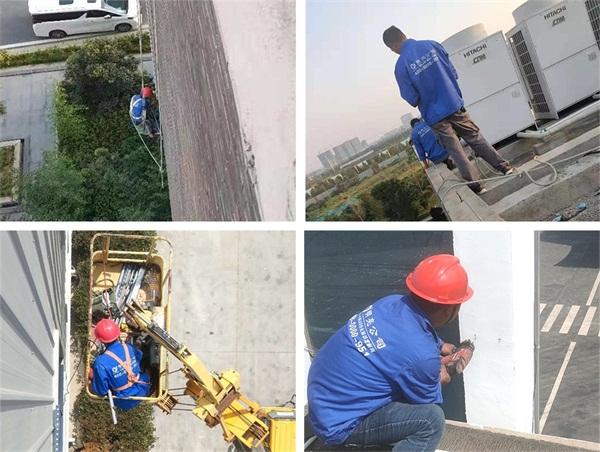 濮阳市迈齐化学办公大楼亮化施工现场