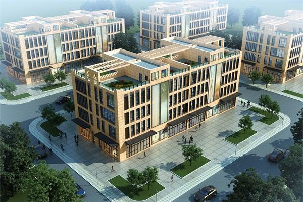 郑州同赢企业总部港商业楼亮化工程施工前效果