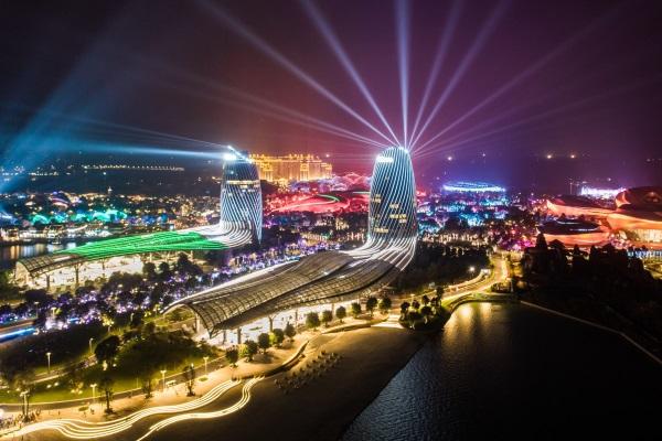 城市户外夜景灯光