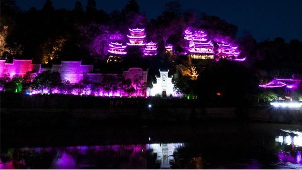 山体夜景亮化工程是打造文旅景观的载体