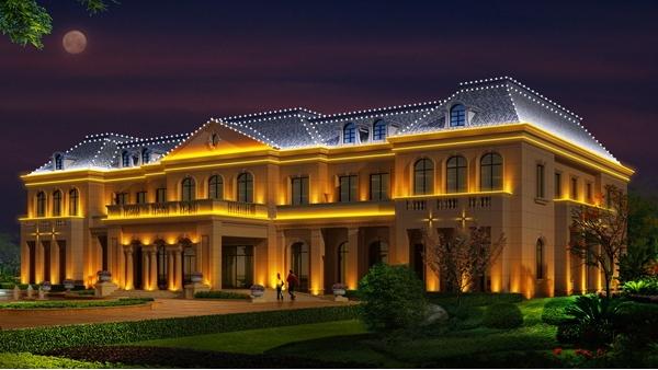 别墅夜景灯光亮化注重提升生活品质!