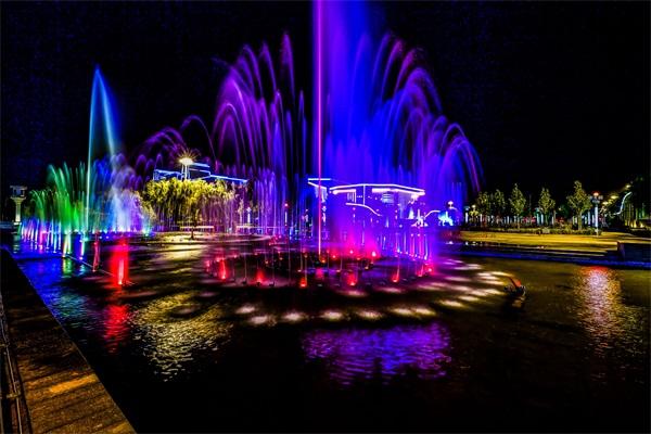 水景喷泉灯光亮化