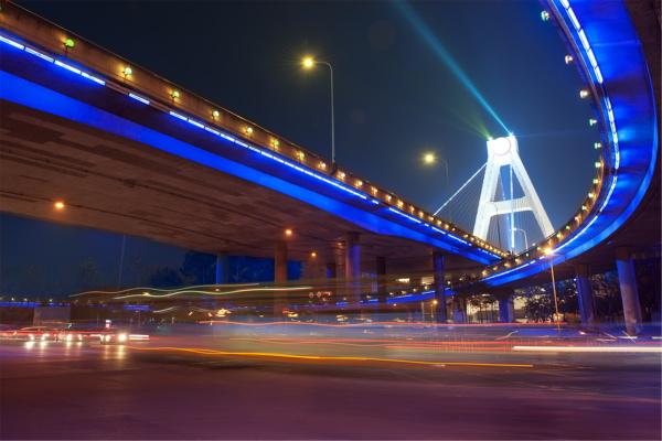高架桥灯光夜景亮化
