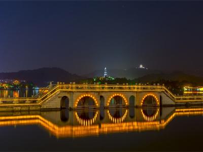 桥梁夜景亮化