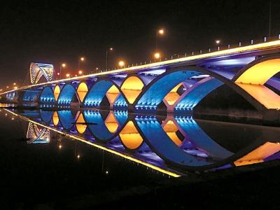 桥梁亮化施工-营造桥梁的构造美