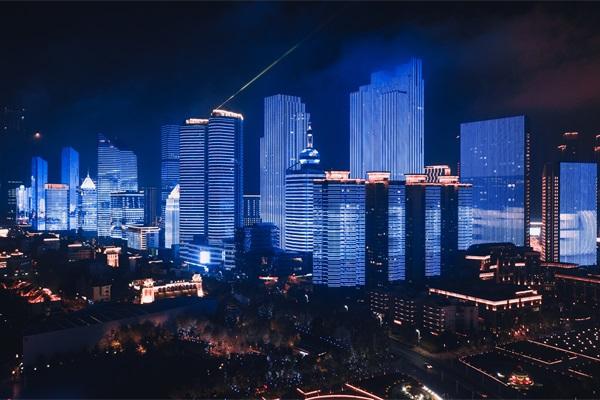 城市户外夜景照明