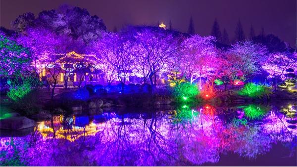 景观灯光工程营造雅致的夜游氛围