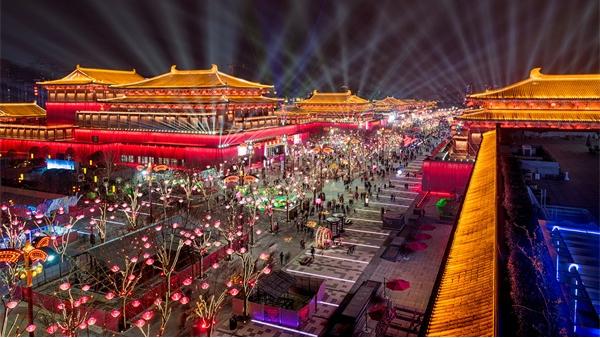 户外灯光秀用灯光传递景观文化艺术价值