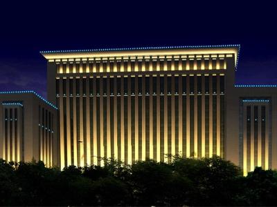 市政大楼亮化-要和周边的环境相结合