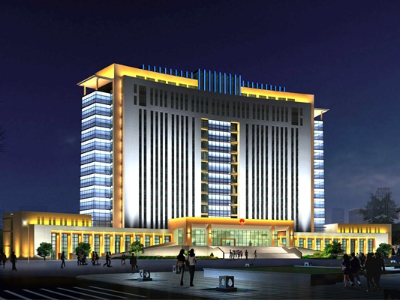 市政楼亮化-象征城市快速发展
