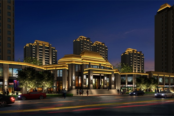 郑州市金盛招商中心外墙亮化效果展示