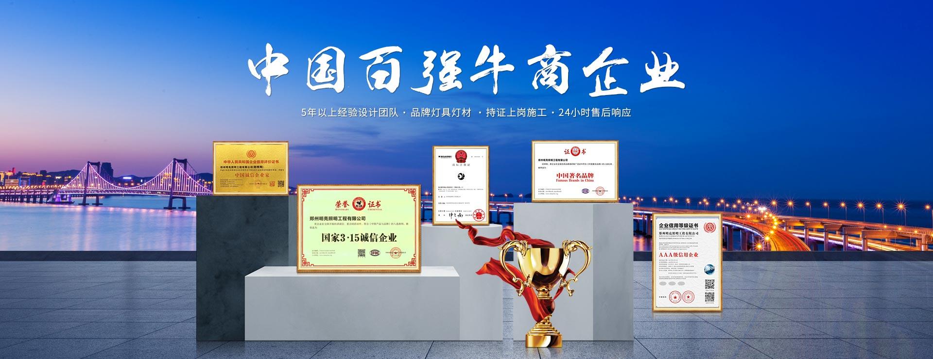 中国百强牛商企业,亮化工程公司
