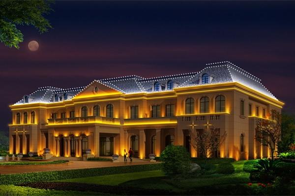 别墅庭院亮化设计