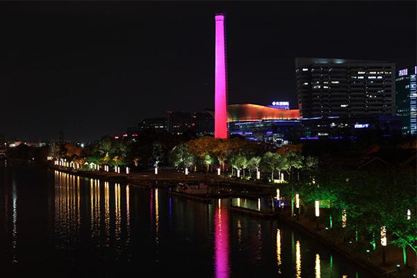 烟囱亮化工程-增强城市时代气息