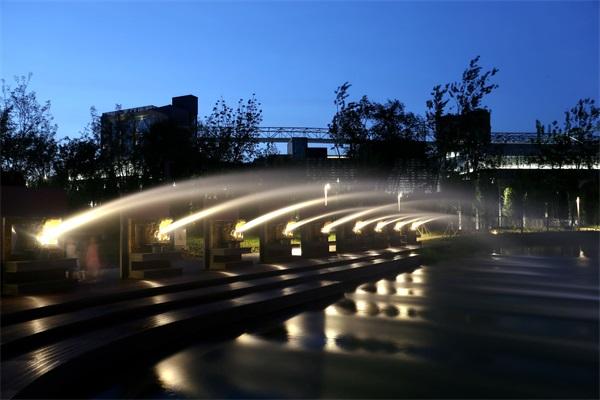 公园景观夜景亮化