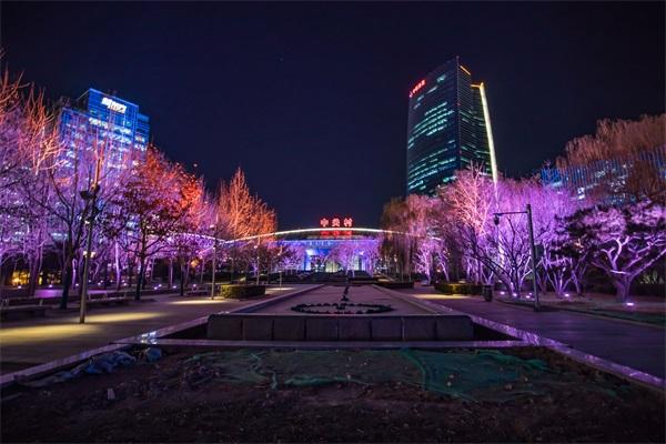 城市公园灯光亮化