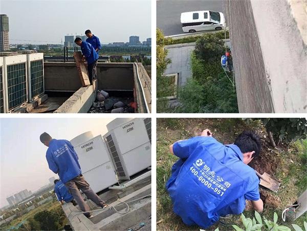 郑州市唯爱康白佛医院亮化工程施工现场