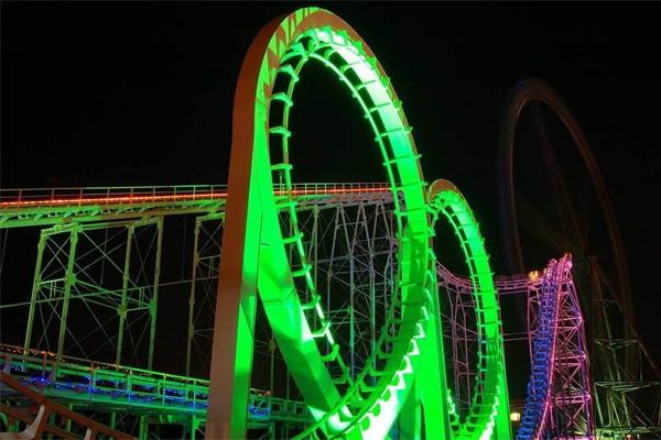 游乐园灯光亮化-构造灯光视觉享受
