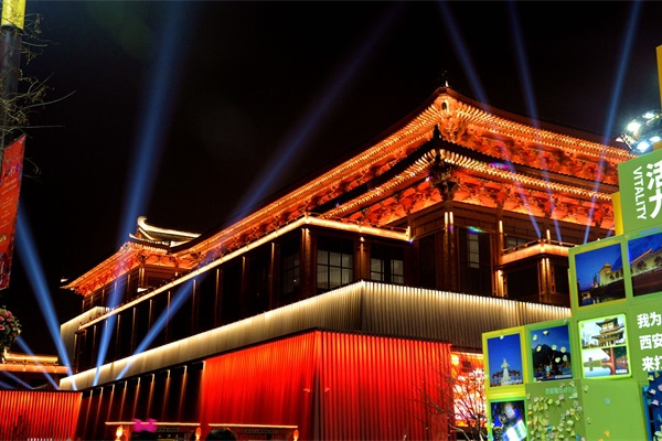 新中式建筑灯光亮化