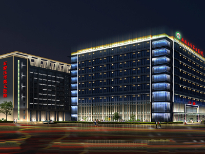 医院亮化工程-凸显医院文明建设成效