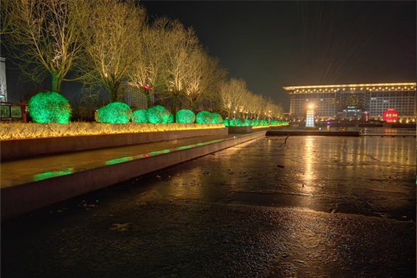 广场夜晚灯光亮化
