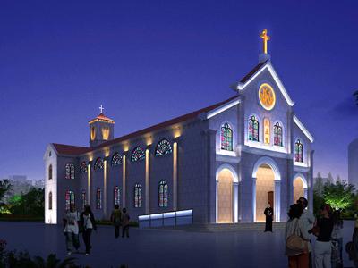 教堂亮化设计方案-注重设计手法