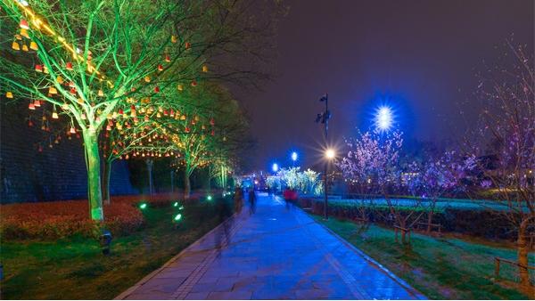 公园夜景灯光亮化如何做才能吸引人?