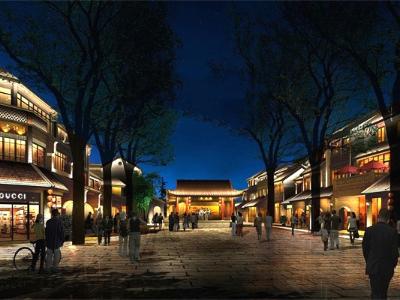 商业街夜景亮化