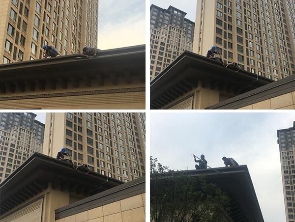 河南省开封市西湖印象售楼部外墙亮化施工现场