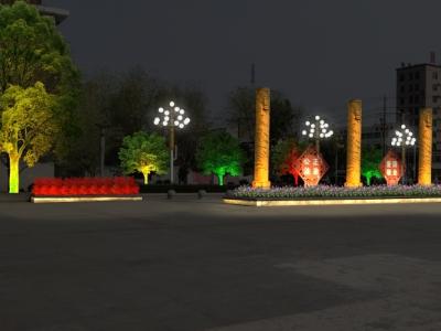 公园广场亮化-点缀城市的夜晚