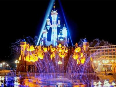 游乐园夜景亮化-更注重灯光氛围体验