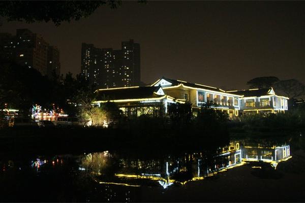景观亮化照明设计增加互动型灯光形式