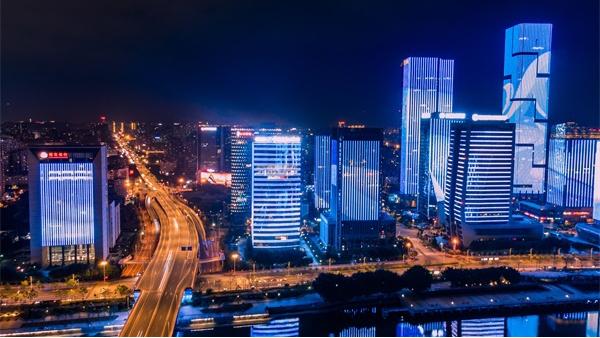 建筑灯光亮化工程让城市更明更亮!