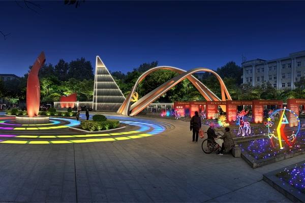 """休闲娱乐广场照明设计起到""""景""""上添花的效果"""