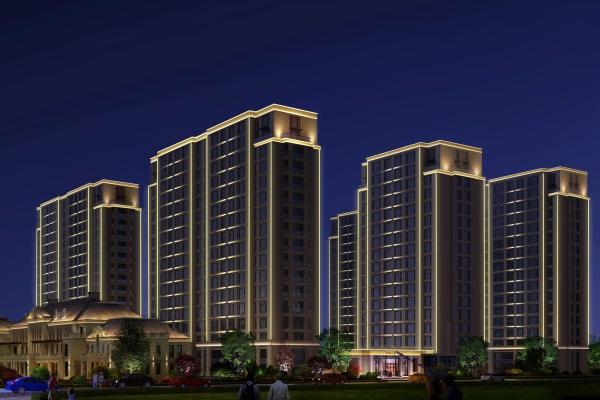 住宅小区建筑照明可以提升住宅小区知名度