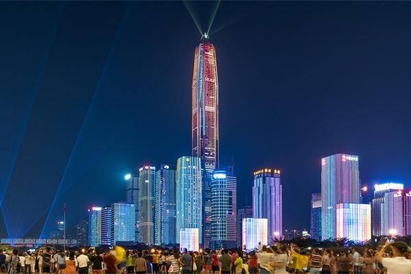 灯光夜景照明提升居民的生活环境