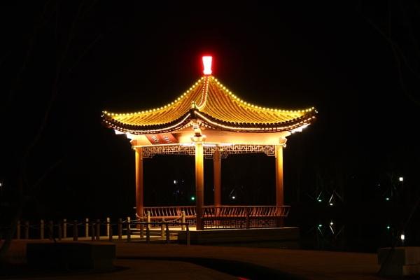 凉亭亮化-城市夜景的代表