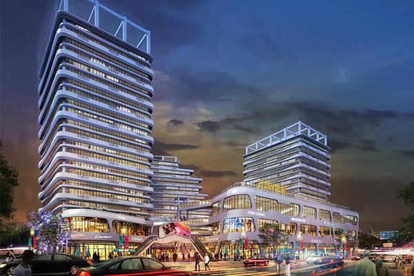 郑州商业楼亮化前