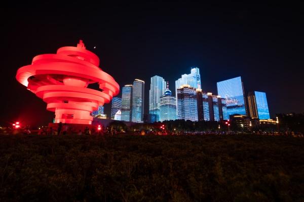 城市灯光夜景照明要形成统一的整体效果