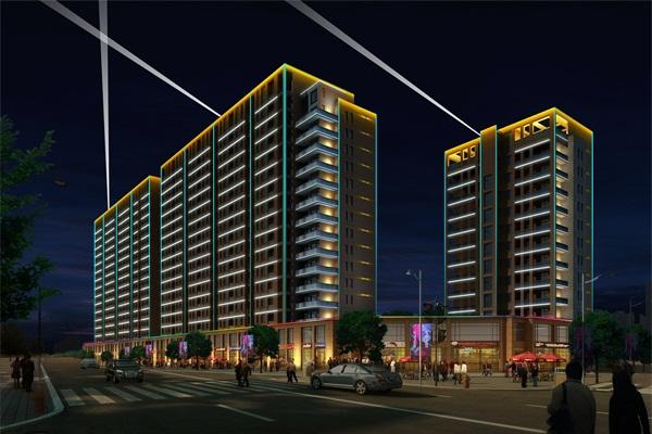 住宅楼亮化工程-使建筑颇具艺术美