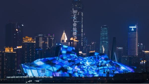 城市建筑照明工程用灯光改变城市夜间形象
