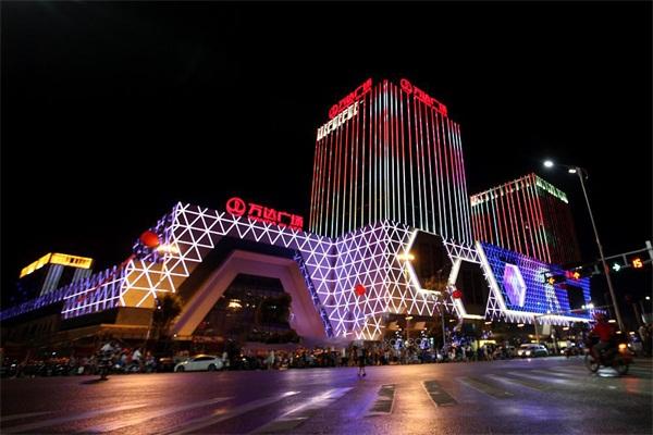 商场外墙夜景亮化-塑造楼体夜晚形象