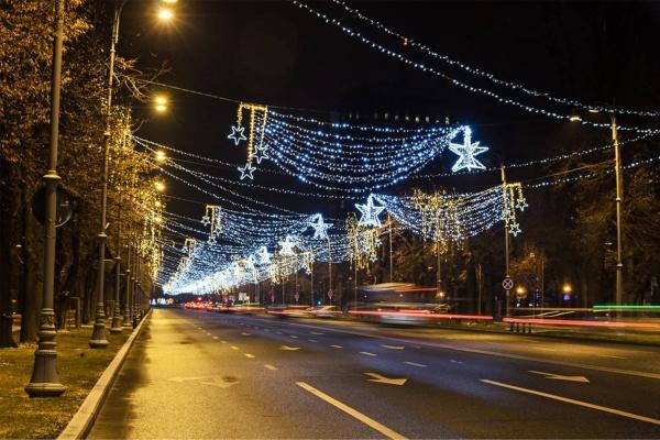 道路夜间灯光照明