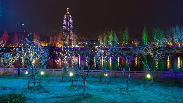 乡村夜景灯光亮化提升乡村夜间整体水平