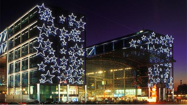 商业楼灯光亮化赋予了城市闪亮名片