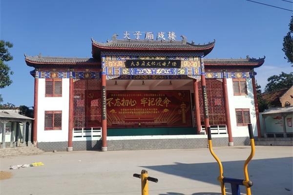 安阳市滑县大字厢戏楼古建筑亮化前效果