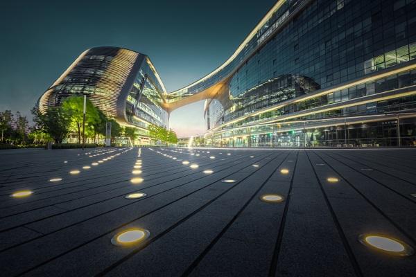 建筑夜间灯光照明